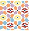 Colorful diamonds ikat geometric seamless pattern vector image