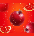 pomegranate and fresh seeds of pomegranates vector image