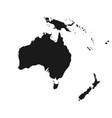 australia and oceania map monochrome australia vector image