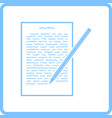 sheet with text and pencil icon vector image