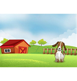 A puppy in the farm vector | Price: 1 Credit (USD $1)