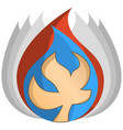 abstract of elements - fire water is vector image