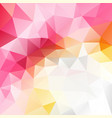 abstract polygonal background hot pink white vector image vector image