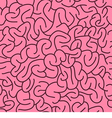 Abstract Seamless Brains Pattern vector image