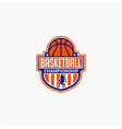 basketball club badge logo-1 vector image vector image