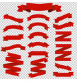 big set red ribbons vector image vector image