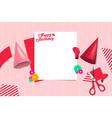 Birthday party preparation template design element