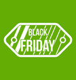 black friday sale tag icon green vector image vector image