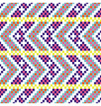 bold arrow chevron seamless pattern pixel blocks vector image