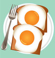 breakfast eggs vector image