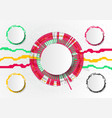 business circle timeline infographic icons vector image