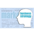 business strategy head profile icon vector image vector image