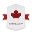 Canada Day national Banner with Ribbon vector image vector image