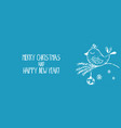 Cartoon banner for holiday theme with bird on