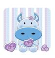cartoon love cow vector image vector image