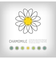 Chamomile thin line art icon isolated daisy logo vector image vector image