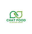 chat talk food logo vector image