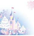 Christmas background with castle vector image