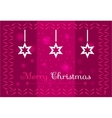 Christmas stars on a dark pink background vector image vector image