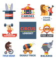 Circus emblems vector image vector image