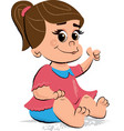 cute bagirl children vector image vector image