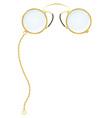 eyeglasses pince nez vector image vector image