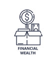 financial wealth line icon concept financial vector image vector image