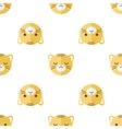 flat cartoon tiger heads seamless pattern vector image vector image