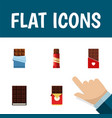 flat icon cacao set of chocolate bar bitter vector image vector image