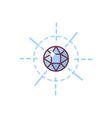 fleur de lis lys heraldic vector image