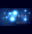 futuristic light particles abstract design vector image
