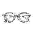 glasses for reading accessory monochrome vector image vector image