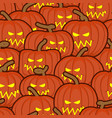 halloween background pumpkin seamless pattern vector image