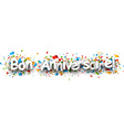 Happy birthday paper banner vector image vector image