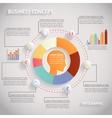 human head infographics vector image vector image