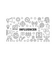 influencer concept simple outline vector image vector image