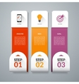 Infographic template with set of marketing icons vector image vector image