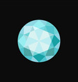 light blue circle precious stone gemstone vector image