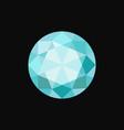 light blue circle precious stone gemstone vector image