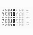 line style business card icons set vector image