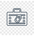 luggage concept linear icon isolated on vector image