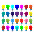 many lamps of the same size in different colors vector image vector image
