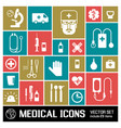 medical colored icons set vector image