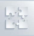 modern puzzle icons background vector image