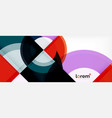 multicolored round shapes abstract background vector image vector image