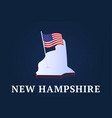 new hampshire state isometric map and usa vector image vector image