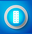 pills in blister pack icon on blue background vector image
