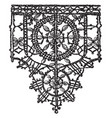 point noue lace border is a 15th century design vector image vector image