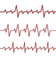 red heartbeat line ekg cardio linestock vector image