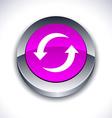 Refresh 3d button vector image vector image